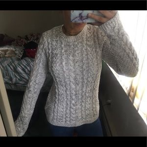Knit braided sweater